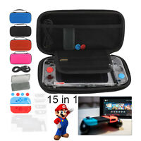 For Nintendo Switch Console Travel Bag Carry Case & Glass Screen Protector