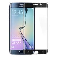 9H Hartglas Samsung S6 Edge Plus Panzerfolie 3D Display Schutz FullCover Schwarz