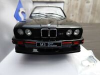 Solido 1:18 Black Diecast Detail BMW M3 E30 Sport Evolution 1990 Toy Model Car