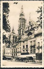 BELGIUM POSTCARD SHOP FRONTS AND CAFES THE SQUARE AND CATHEDRAL ANTWERP C1920'S