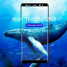 Clear Full Curved 3d Tempered Glass Screen Protector for Samsung Galaxy Note 8 Black