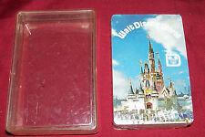 Old Walt Disney World Playing Cards Vintage Poker Game Souvenir Deck Disneyland