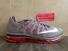 Nike Mens Air Max 2016 Grey Red Athletic Running Shoes (806771 016) Size: 1