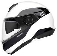 Schuberth C4 Pro Fragment White Black Helmet - Fast & Free Shipping