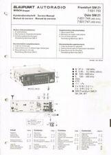 Blaupunkt  Autoradio SM21 Schaltplan Oslo  7631744 Frankfurt 7631750 Manual 1981