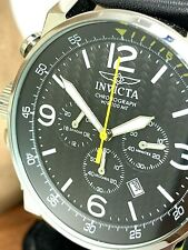 Invicta Men's Watch 20129 I-Force Black Dial Lefty Chronograph Date Leather Band