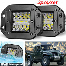 2x 5Inch 240W Flush Mount Flood CREE LED Work Light Pods SUV Bumper Reverse Lamp