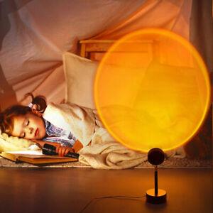 Projektionslampe Sonnenuntergang Sunset Sonne USB LED Projektor LichtRegenbogen