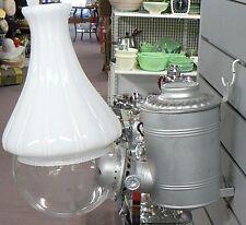 OLD VINTAGE KEROSENE ANGLE LAMP WITH WHITE GLOBE LOT 2