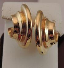 Liz Claiborne Gold tone Hoop Edgy Modern Pierced Earrings 8b 28