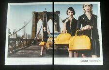 2014 Louis Vuitton 2 Page Fashion Magazine Print Ad
