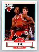 1990 Fleer Stacey King #27 RC Chicago Bulls