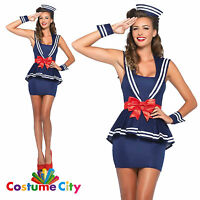 Womens Ladies Aye Aye Amy Sexy Sailor Navy Fancy Dress Party Halloween Costume