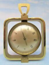 VINTAGE (1950's) DECORATIVE ALL BRASS WALL THERMOMETER MADE IN FRANCE