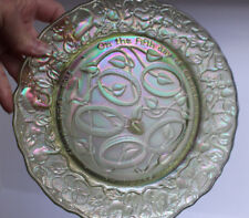 1974 Imperial Carnival Glass Plate On the Fifth Day of Christmas 5 Gold Rings