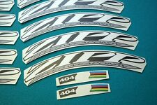 ZIPP 404 SPEED WEAPONRY WCS STYLE WHITE & SILVER REPLACEMENT RIM DECAL SET FOR 2