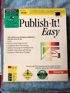 Timeworks Publish it! Easy version 2.1 for Macintosh - still factory sealed.