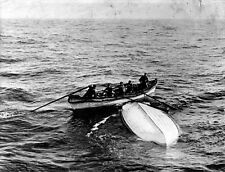 """New 8x10 Photo: Overturned Collapsible """"B"""" Lifeboat from RMS TITANIC Disaster"""