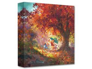 Autum Leaves Gently Falling -James Coleman -Treasure On Canvas Disney Fine Art