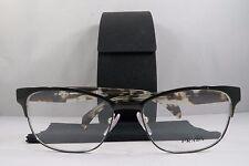 Prada VPR 65R 7AX-1O1 Black/White Havana New Authentic Eyeglasses 53mm w/Case