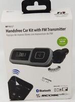 SCOSCHE BTFM Handsfree Car Kit with FM Transmitter Bluetooth Make Calls & Music