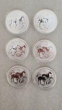 2014 Australia (6) Coins 1 oz Silver Lunar Horse BU .999 fine Silver