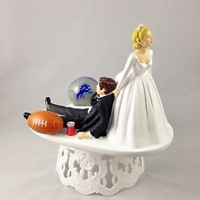 Funny Wedding Cake Topper Football Themed Detroit Lions Humrous And Unique