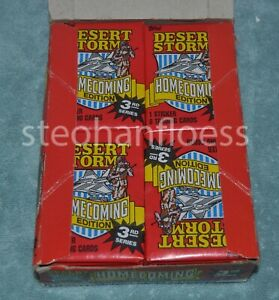 1991 Topps Desert Storm Homecoming 3rd Edition Packs From Factory Case