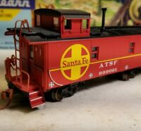 HO Athearn Santa  fe cupola caboose car, for train set, RTR series