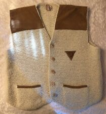 Men's Sweater Vest Handcrafted By Drysdale Of New Zealand Wool Size L W2