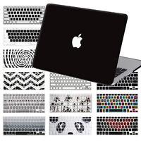 "Black Hard Rubberized Case+ Keypad Skin For Macbook Pro Air 11"" Pro 13""15""Retina"