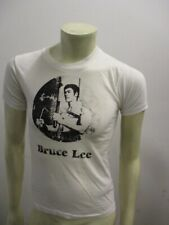 Vintage 1970s BRUCE LEE White T Shirt Super Thin Size SMALL