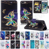 Printed Flip PU Leather Wallet Card Slots Case Cover For Huawei P20 Lite Cover
