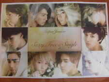 SUPER JUNIOR - 6th Sexy, Free & Single [OFFICIAL] POSTER K-POP *NEW*