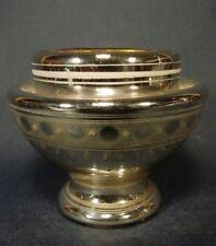 Bauernsilber / Silberglas - Glasschale, bemalt mit Marke. 19.Jh.