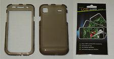 Grey / Smoke Hard Plastic Case & Screen Protector For Samsung Vibrant T959