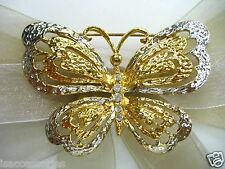 18KGP Butterfly Swarovski Element Austrian Crystal Rhinestone Brooch Pin