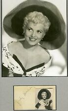 JUDY HOLLIDAY D.65 JSA CERTED SIGNED ALBUM PAGE AUTOGRAPH AUTHENTIC