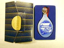 Vintage Bing & Grondahl Christmas Orn 1985 Teardrop Porcelain Orig Box NOS #2