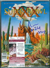 1996 SUPER BOWL PROGRAM XXX SIGNED AUTOGRAPHED COWBOYS LARRY BROWN MVP JSA COA