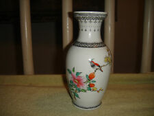 "Chinese Bird Vase-Porcelain-Chinese Writing & Markings-6 & 1/2"" Tall"