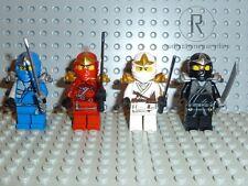 LEGO® Ninjago 4 Ninjas ZX - Cole Jay Kai und Zane ZX - Samurai Figuren Minifig