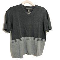 Banana Republic Color Block V Neck Short Sleeve T Shirt Mens Size Medium M