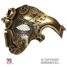 Steampunk Augenmaske Halb Maske Kupfer-Messing Fasching Karneval Industrie (47)