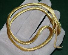 Hilo de oro real, 100 Metro madeja, Oro Amarillo. Bordado goldwork Tejer