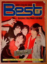 BEST n° 129 AVEC POSTER (Queen / Status Quo) Scorpions Roxy Music Lou Reed