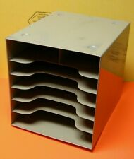 VINTAGE BUDDY PRODUCTS HEAVY STEEL 7 COMPARTMENT DESKTOP FILE ORGANIZER READY