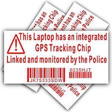 4 x pegatina de seguridad Computadora portátil-signo de seguimiento de policía GPS-Dell, Hp, Mac, Cerradura