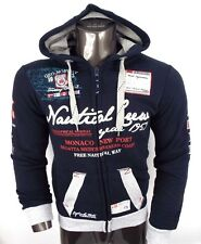 GEOGRAPHICAL NORWAY EXPEDITION Homme Hoody Sweat à Capuche Pull Bleu Marine JMS 100 XXL (2XL)