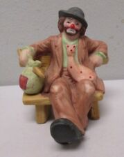Emmett Kelly Jr Flambro Signature Collection Hobo on Bench Figurine